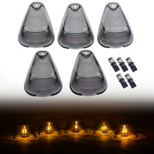 Smoked Cab Lights Roof Marker Cover Amber LED Bulb for 99-16 Super Duty F350