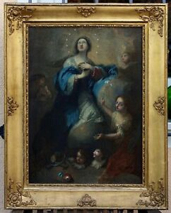 Maria Immaculata - Barockgemälde - Öl/LW - 18. Jahrhundert   (# 1515)
