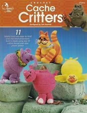 Cache Critters, Annie's Toy Crochet Pattern 87292 Kitty Dinosaur Duck & More!
