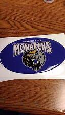 "AHL MANCHESTER MONARCHS OVAL CAR/BUMPER STICKER 5 1/2""X 3 1/2"" NICE !"