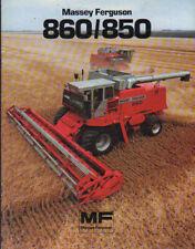 Massey Ferguson 860 and 850 Combine Brochure Leaflet
