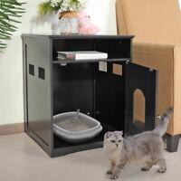 Pet Cat House Litter Washroom Box Enclosure Hidden Indoor Furniture Wooden
