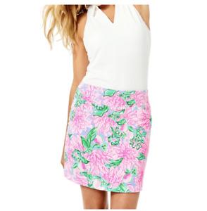 Lilly Pulitzer Monica Skort 10 Pink Blossom 'Try Your Zest' Golf UPF 50+ NEW $98