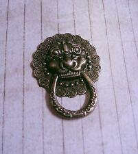 Door Knocker Cabochon Vintage Handle Cabochon Antiqued Bronze Lion Head