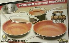 Gotham Steel Non-Stick Titanium Ceramic Cookware Set (5-Piece) Healthy Cooking