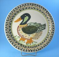 "Janet Rothwoman Pottery 10"" Mallard Duck Plate California Artist"
