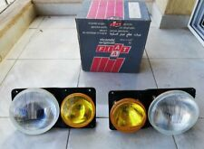 Fiat 131 Racing Original Carello Complete Headlight Set Assembly Clear Amber NOS