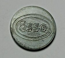 Esso Gas Station Steel-Alloy Car Wash Token - uniface - back is blank