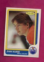 1986-87 OPC # 108 OILERS JARI KURRI NRMT-MT CARD (INV# A079)