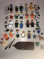 Lego Minifigure Town / City People + Tons Of Accessories - Lot CC