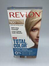 REVLON Total Color EXTRA LIGHT NATURAL BLONDE #100 Permanent Hair Dye Color
