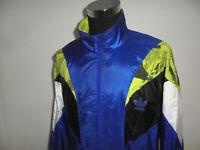 vintage taiwan 80`s ADIDAS Nylon Jacke Trainingsjacke neon oldschool D9 XL