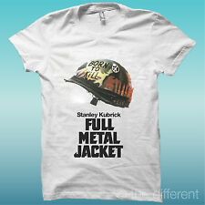 """T-SHIRT """" FULL METAL JACKET """" BIANCO THE HAPPINESS IS HAVE MY T-SHIRT NEW"""