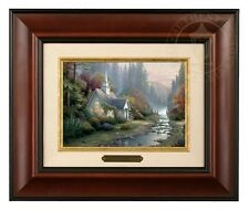 Thomas Kinkade Forest Chapel Framed Brushwork (Burl Frame)