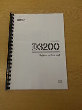 NIKON D3200 CAMERA FULLY PRINTED INSTRUCTION MANUAL USER GUIDE 228 PAGES A5