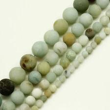Piedras Preciosas Naturales De Varios Colores Amazonita 2mm Grande Agujero Redonda Granos De Envío Gratis