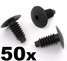 50x Vw Moldura De Plástico Clips-Canilla De Interior Puerta Arranque Forro Techo Alfombra Paneles