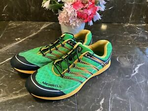 Merrell Parrot Performance Vibram M-Connect Series Green Yellow Shoes Mens 10.5