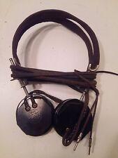 "WW2 US Army Signal Corps Receivers Headset Headphones  ""Brush"""