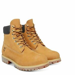 Timberland 10061 6in 6-Inch Premium Waterproof Mens Suede Boots Shoes Wheat Size