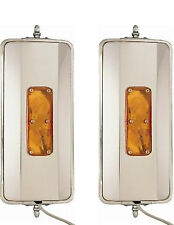 "One Pair of 7"" x 16"" West Coast Mirrors Heated Lights Truck Mirrors"