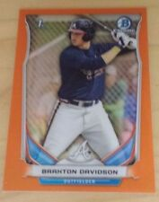 2014 Bowman Draft CDP28 Braxton Davidson Orange Chrome Refractor #02/25 Braves