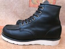 Red Wing Heritage Moc Toe Boot 9075 Black Harness Leather Mens Sz 8.5 D