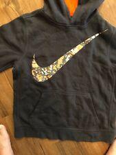 Nike Kids Large Camo Black Orange Gray Hoodie Pullover L