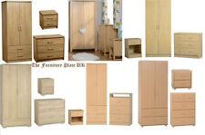 Modern Wood Veneer Bedroom Furniture Sets with 3 Pieces