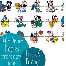 140+ Disney Babies Embroidery Machine Design Images on CD PES
