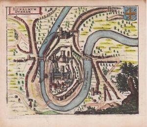 1661 Scarce Hermannides Map of Durham., England