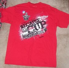 NEW NHL Detroit Red Wings BECAUSE ITS THE CUP Playoff Statement L Large NEW NWT