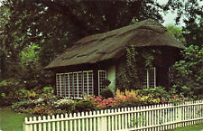 Postcard Old Westbury Gardens Long Island NY Thatched Cottage Chrome Unused A1