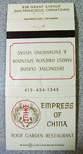 Match Book Cover Empress of China San Francisco California