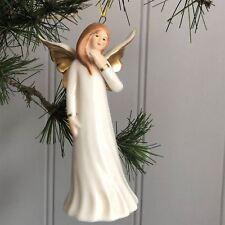 Ceramic Angel Christmas Tree Hanging Decoration By Gisela Graham