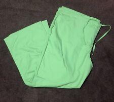 Women's 2Xl Solid Green Drawstring Scrub Pants From Tafford