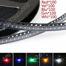 500Pcs 0603 SMD LED Red Green Blue Yellow White 5Colours Light Diodes Emitting.