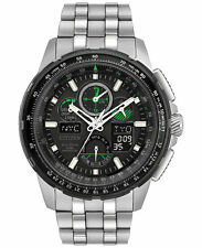 Citizen Eco-Drive JY8051-59E Mens Skyhawk Chronograph Black Dial 47mm Watch