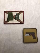 ALABAMA STATE & PVC PISTOL PATCH MORALE GUN TACTICAL NEW TWO LOT AL VELCRO BRAND