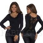 Womens Lace Crochet Sweater Jumper Top Size 6 8 10 12 / US Size 2 4 6 8 XS S M L