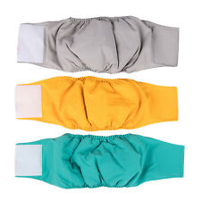 More details for s-xl male dog puppy pet nappy diapers belly wrap band sanitary pant underpant uk