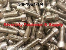 (10) 3/8-16x1-1/4 Socket Allen Head Cap Screw Stainless Steel .375 x 1.25