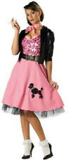 50's Bad Girl Sexy Poodle Skirt Deluxe Adult Costume Size Medium