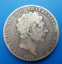 More details for 1819 crown (lix) - king george iii silver coin