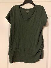 ISABEL Maternity Women's Charcoal Gray Blouse Top Shirt Size XXL 👣kh1