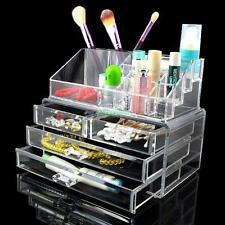 Holder Cosmetic Makeup Organizer 4 Drawer Storage Jewellery Box Acrylic Clear