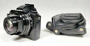 OLYMPUS STYLUS 1 12.0MP Digital Camera Compact 10.7x f2.8 RARE Leather Case READ