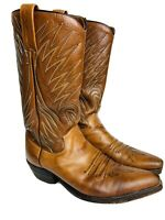 DAN POST Brown Leather Boots Men's Size 9 A Narrow Style # 6154 Made in Spain