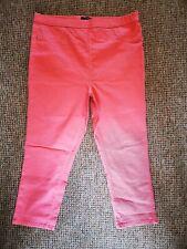 Coral Cropped Capri Jeans Jeggings Size 16 Matalan