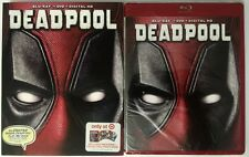 NEW MARVEL DEADPOOL BLU RAY DVD TARGET EXCLUSIVE RED CASE & CARDS + SLIPCOVER